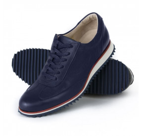 MIDNIGHT BLUE LEATHER SNEAKERS