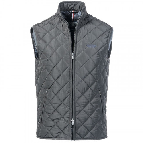 Black padded non sleeves jacket