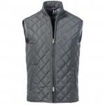 Black padded non sleeves jacket
