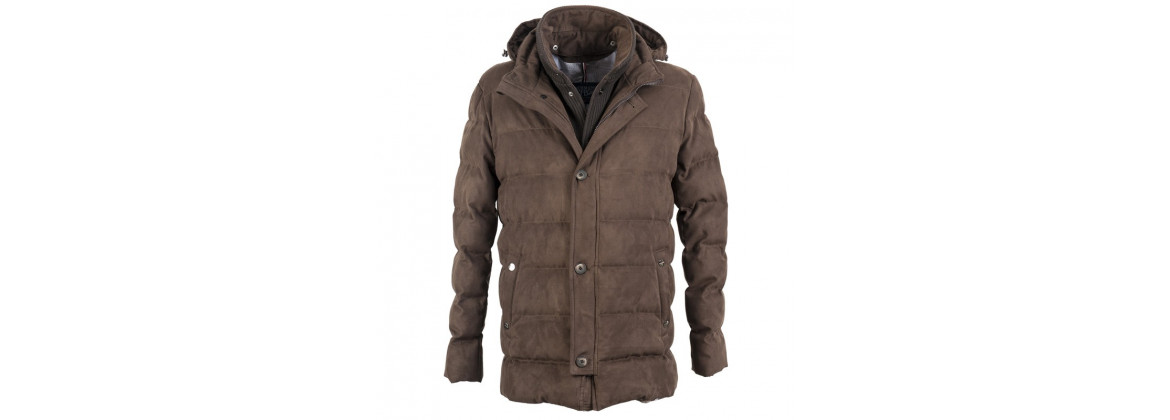Manteau Alcantara marron