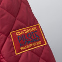 Veste matelassée pilote rouge écussons