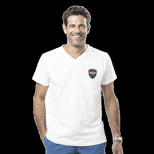 T-Shirt col V écusson Pilote
