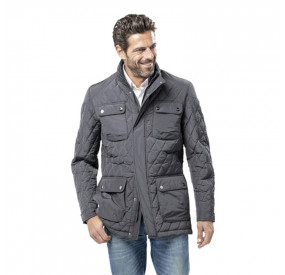 GREY PILOT QUILTED JACKET