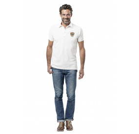 "WHITE POLO SHIRT ""FLAT6"" LIMITED EDITION"