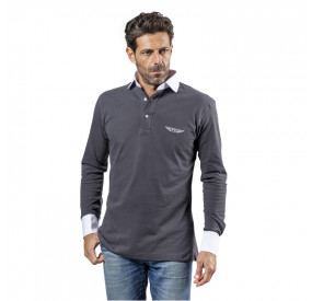 POLO MANCHES LONGUES GREY