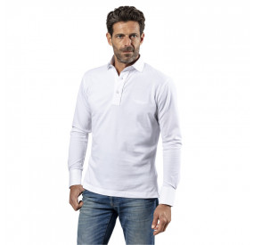 POLO MANCHES LONGUES WHITE