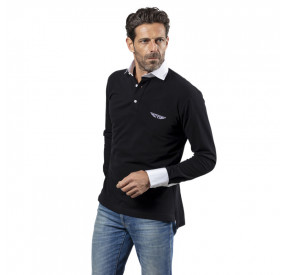 POLO MANCHES LONGUES BLACK
