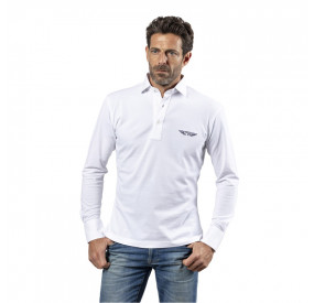 POLO MANCHES LONGUES BLANC