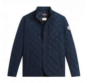 NAVY DRIVER QUILTED JACKET