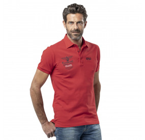 POLO ROUGE IMPRIME BRODE