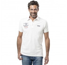 POLO BLANC IVOIRE  IMPRIME BRODE