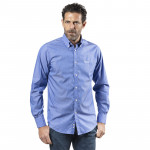 CHEMISE BLEU RAYURES BLANCHES