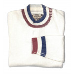 PULL LAINE COL ROND  BLANC BBR