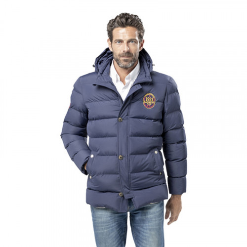 NAVY WINTER JACKET WITH BADGES