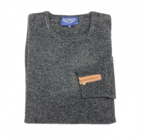 Pull Laine Cachemire Col Rond Anthracite