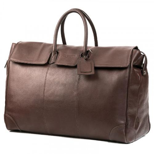 magnifique sac de voyage en cuir de vachette marron 48h homme ou femme. Black Bedroom Furniture Sets. Home Design Ideas
