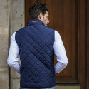 NAVY PILOT QUILTED CARDIGAN