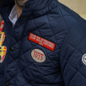 NAVY DRIVER QUILTED JACKET WITH BADGED