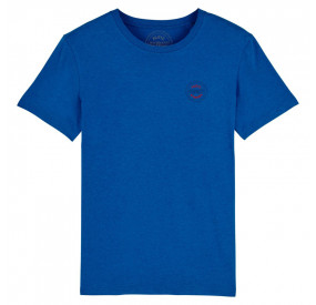 INDIGO BLUE ROUND -NECK T-SHIRT BACHMANN