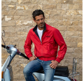 RED / BLUE NAVY REVERSIBLE JACKET FOR MAN