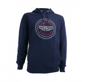 NAVY SWEAT SHIRT WITH CAPUCHE