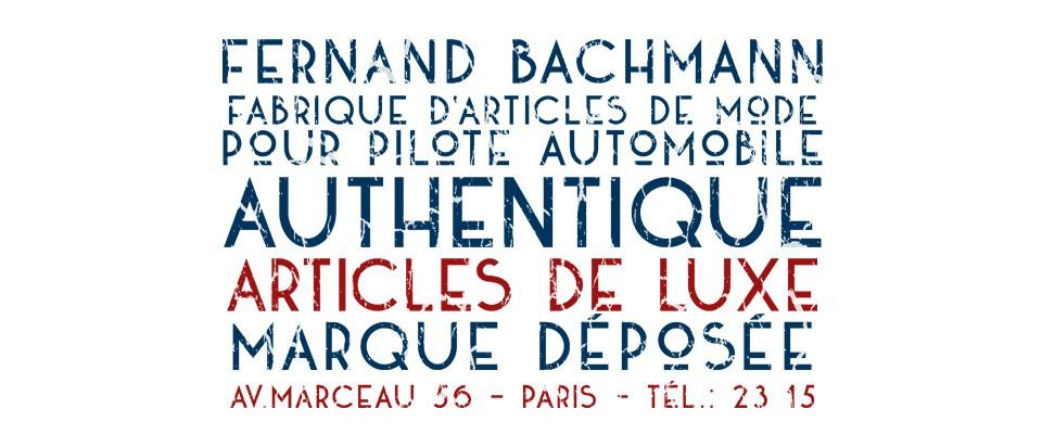 Fernand BACHMANN - Pilote automobile